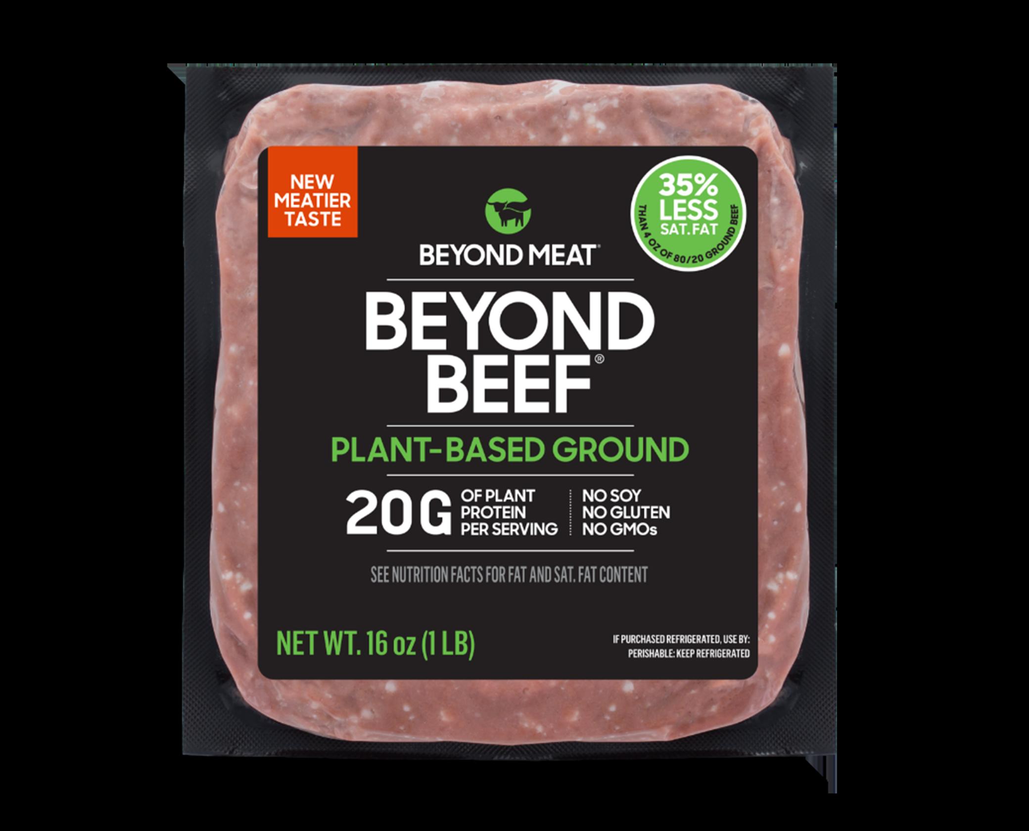 Beyond Beef Ground packaging
