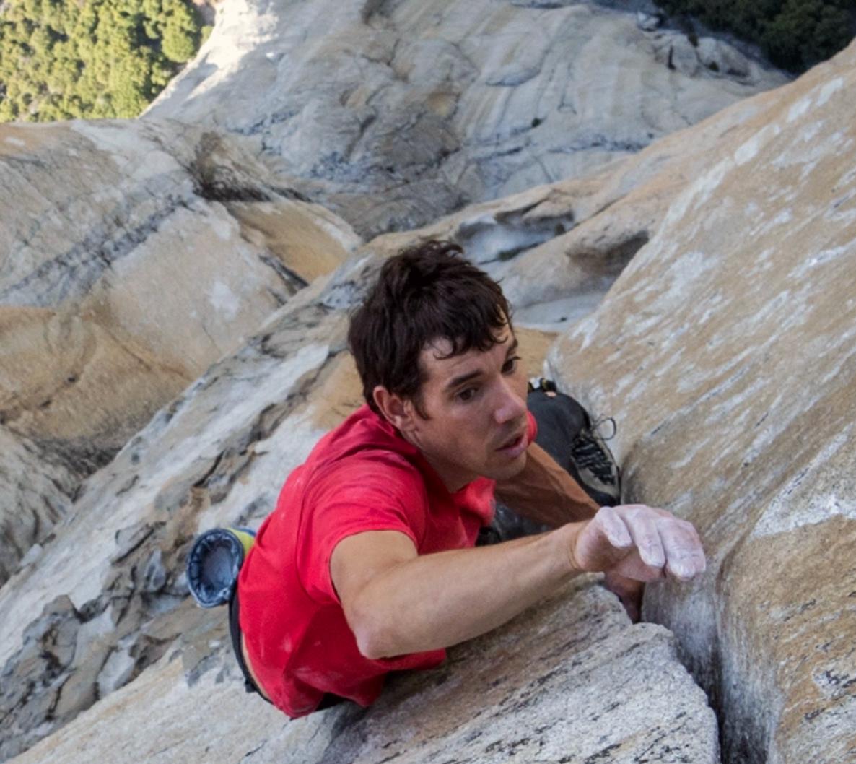 Alex Honnold soloing El Capitan, in Yosemite National Park in 2017
